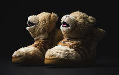 "aac651e1957a Kids Receive Their Own adidas JS ""Teddy Bear"" Model Jordan 1"