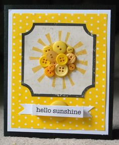 SRM Stickers  - @Deanna M created this Card: Hello Sunshine using SRM Stickers and Simple Stories*