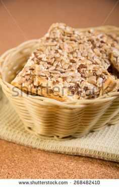 Fresh cookies with sunflower  and sesame seeds - stock photo