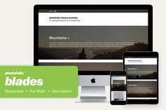 blades - responsive wordpress theme by photofolio on Creative Market