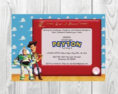 Toy Story Birthday Party Invitation  Woody by Designs2Celebrate