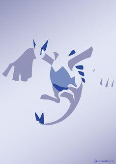 Minimal Vector Art // Lugia *melina.graphic.design