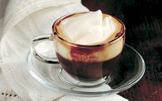espresso, liquor spiked and topped with whipped cream (caffe' corretto con panna) Italian Drinks, Italian Recipes, Coffee Cafe, Coffee Drinks, Best Food Ever, Italian Cooking, Chocolate Coffee, Coffee Break, Custard