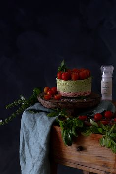 Cheesecake Salado Sin Horno Hazlo Lo Antes Posible - O'Food Ricotta, Starters, Basil, Cake, Desserts, Food, Foodie Travel, Dishes, Recipes