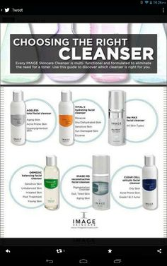 Which #imageskincare cleanser is right for you?  #agelater #skincare #beauty