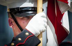 Present ... Arms! (U.S. Marine Corps photo by Staff Sgt. Ezekiel R. Kitandwe/Released)