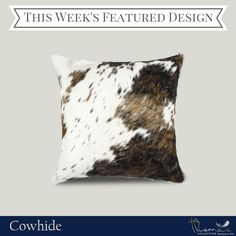 We're featuring Cowhide as our design collection of the week. Think that's beautiful? Check out the rest of our Cowhide collection: http://pillowsanddecor.com/collections/cowhide