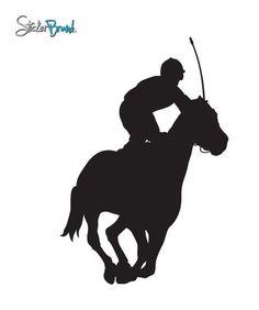 Vinyl Wall Decal Sticker Jockey Horse Race #399 | Stickerbrand wall art decals, wall graphics and wall murals.