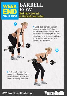 The Move That'll Help You Get a Strong, Sculpted Back  http://www.womenshealthmag.com/fitness/barbell-row-challenge