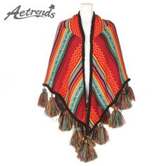 Winter Scarf Women Poncho Cape Shawl Striped Design with Tassel $25.75 => Save up to 60% and Free Shipping => Order Now! #fashion #woman #shop #diy www.scarfonline.n...