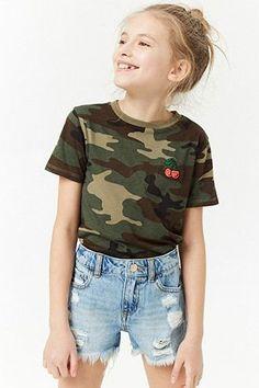Girls Frayed Denim Shorts (Kids)