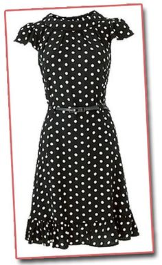 Forties style polka dots dress from OLI