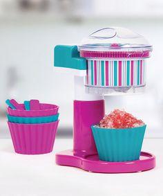 Look at this #zulilyfind! Teal & Magenta Electric Ice Shaver Set by Holstein Housewares #zulilyfinds