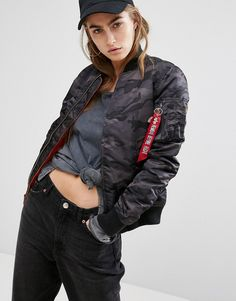 64662c62a366f Buy it now. Alpha Industries MA-1 VF 59 Camo Padded Bomber Jacket -