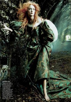 """Saoirse Ronan photographed by Steven Meisel for Vogue US, december 2011.  Photograph related to """"The Cult of Beauty: The Victorian Avant-Garde 1860–1900"""" exhibition."""
