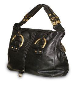 ec7247622582 Chic Leather Satchel in black or chocolate brown. Leather SatchelLeather  HandbagsBest ...
