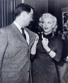 "Marilyn and Tommy Noonan, ""Gentlemen Prefer Blondes"", 1953."