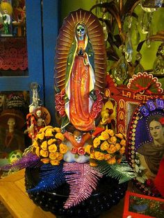 Hand Painted Day of the Dead Virgen De Guadalupe by La Chusma, via Flickr