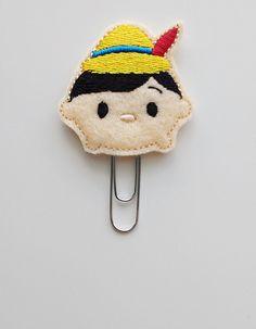Tsum Tsum Pinocchio Felt Paperclip | Bookmark | Clip | Planner Accessories | Feltie | Planner Clip | Paper Clip | Movie Clip | Wooden Boy