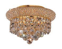 Elegant Lighting 1800F10G/RC Royal Cut Clear Crystal Prim...