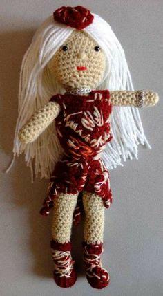 lady gaga crochet doll