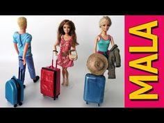 Como Fazer uma Mala De Viagem para Barbie e Outras Bonecas - YouTube