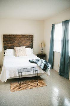 DIY rustic simplistic tribal and native american inspired bedroom, DIY headboard