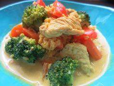 Low Carb Rezepte von Happy Carb: Madras-Curry-Pute mit Gemüse und roten Linsen - Bunt ist gesund.