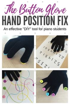 Blues Piano Lessons The Button Glove: A DIY Tool To Improve Hand Position In Young Piano Students - Teach Piano Today - This easy-to-make piano teaching tool can help to encourage curved fingers and a rounded hand shape. Check out our 9 ways to use it! Piano Lessons For Kids, Kids Piano, Music Lessons, Easy Piano, Piano Teaching, Teaching Tools, Learning Piano, Teaching Resources, Piano Hands