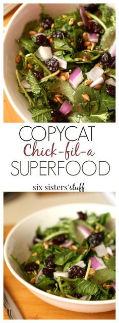 Copycat Chick-fil-a Superfood from SixSistersStuff Lunch Recipes, Salad Recipes, Cooking Recipes, Drink Recipes, Dinner Recipes, Healthy Salads, Healthy Eating, Healthy Recipes, Healthy Food