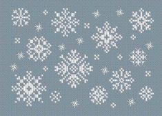 снежинка вышивка крестом схема
