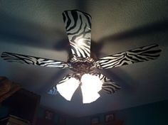Our own Nicole N. shares how to create a stylish wallpapered ceiling fan in this fun and easy DIY.