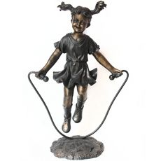 Girl Jumping Rope Statue - Spring Time fun!