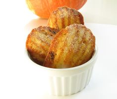 Pumpkin Pecan Madeleines... you also can't go wrong with pumpkin! especially not this time of year.