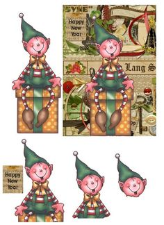 PETIT LUTIN - Xmas/New Year card topper