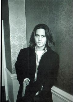 """""""If you catch me saying 'I am a serious actor,' I beg you to slap me."""" I saw Johnny Depp in Lisboa Young Johnny Depp, Here's Johnny, Johnny Depp Joven, John Depp, Fangirl, Fluffy Hair, Hollywood, Madame, Pirates Of The Caribbean"""