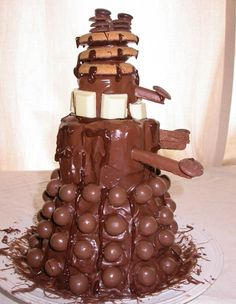Dalek Chocolate Cake - My son's 11th Birthday cake I think.  Must show to his Gran, she does all the birthday cakes.