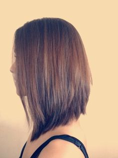 Long Angled Bob Haircut Back View