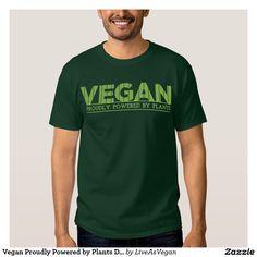 Vegan Proudly Powered by Plants Dark Tee Shirt