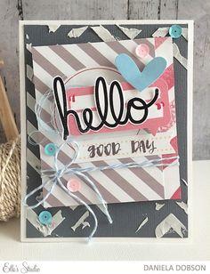 Hello card by Daniela Dobson for Elle's Studio