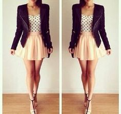 #fashionaddict #woman #tan #perfect #summer #trendy #jacket #heels #girlystyle #style #instamode #perfecto #blouse #pastel #outfitiftheday #women #spring #mylook #instalooks #fashiondiaries #lookoftheday #polkadots #dressy #girly #girly #outfit #ladies #skirt #pink #lovely #shirt #instaglam #instalook #cute #ootd https://goo.gl/gAH2Wh