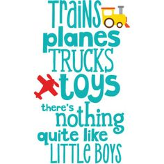 Silhouette Design Store: planes trains trucks & toys