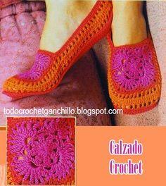 Todo crochet: Teje tu propio calzado crochet - muy fácil