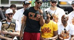 Channing Frye  9 of the Cleveland Cavaliers speaks onstage during the  Cleveland Cavaliers 2016 NBA 886471c9a