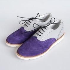Женские полуботинки Brogue №2 Purple Smoke