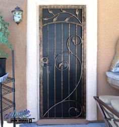 Decorative Wrought Iron Security Screen Door Maybe Incorporate Erfly Doors