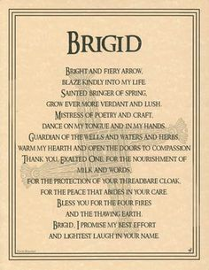 Brigid Poster [EPBRI] - $1.95 : Wiccan Leanings: Wiccan and Mystical Supply Store