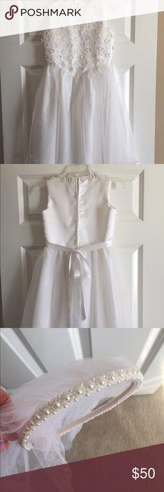 girls first communion dress white girls first communion dress Dresses Formal