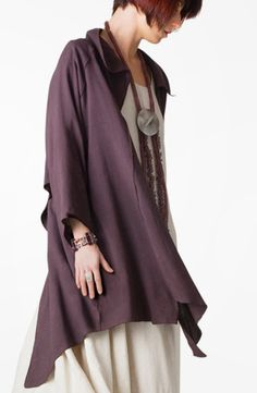 Pointy Jacket in Grape Papyrus