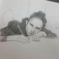 Студентка.  #drawing #illustration #portrait #sketch #pencil #sketchbook #art #artwork #painting #eskiz #портрет #рисунок #карандаш #набросок #эскиз